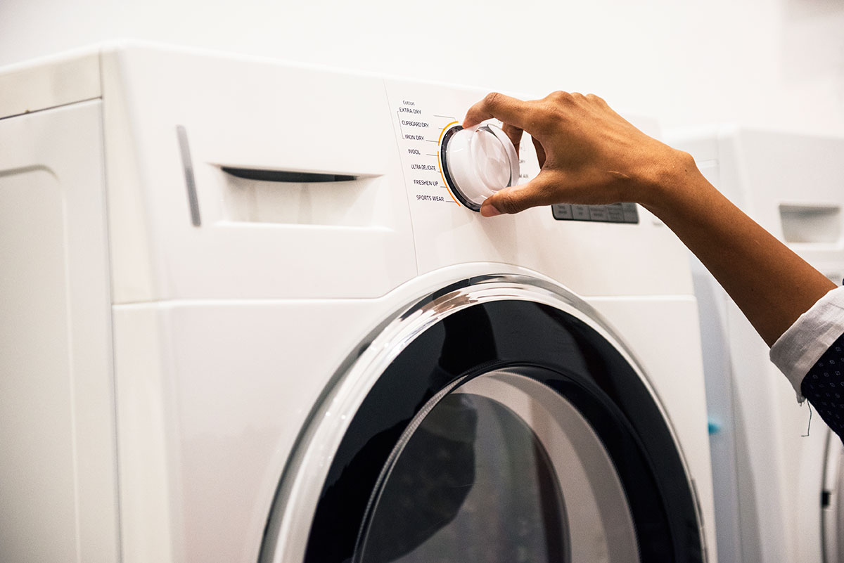 Πλυντήριο ρούχων κολλάει το πρόγραμμα